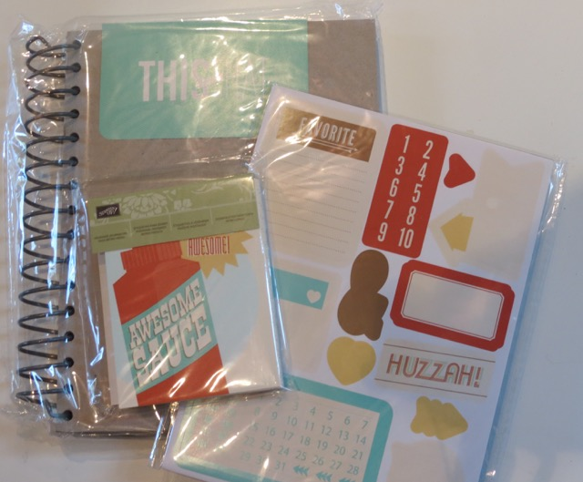 Retro Fresh This & That Joural w/stickers and Designer Journaling Tags