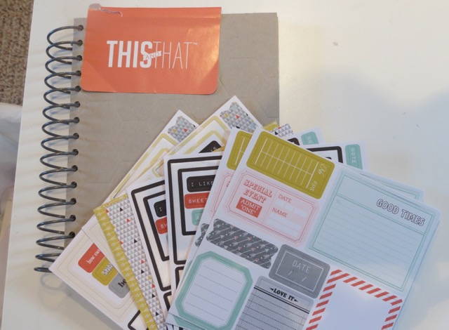 Epic Day This & That Joural w/stickers and Designer Journaling Tags