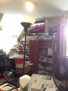 Just inside stampin' studio door