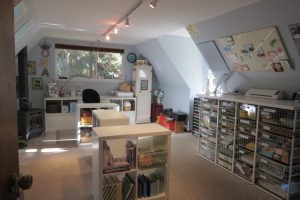 Blythe's stampin' studio from the entry doorway