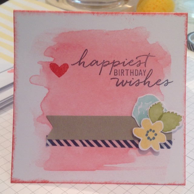 Happiest Birthday Wishes care from Watercolor Wishes card kit (140406)