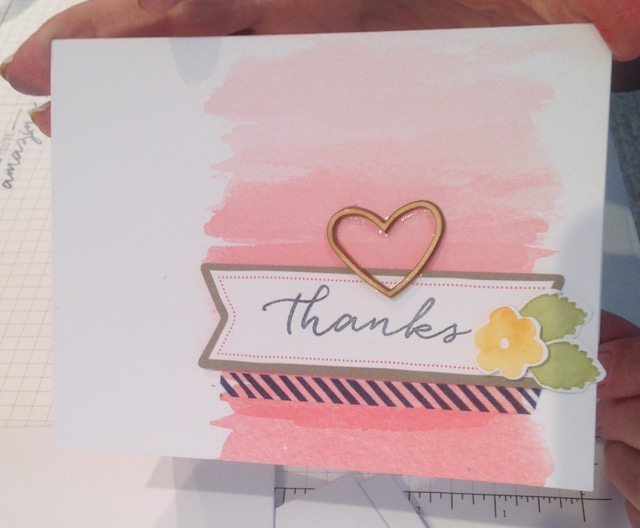 Thanks card from Watercolor Wishes card kit (140406)