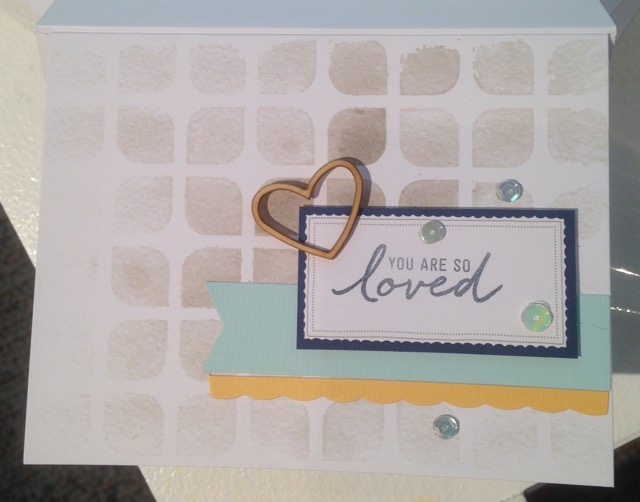You are So Loved card from Watercolor Wishes card kit (140406)