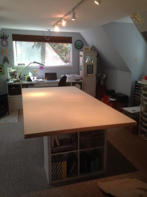 Door table in my 'new' stampin' studio