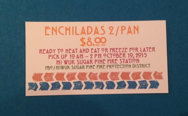Individual $8.00 enchilada fund raiser ticket
