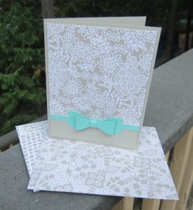 Bow Builder Punch accenttamped greeting card