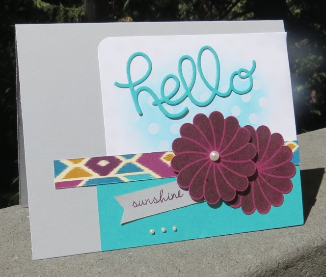 Bohemian Designer Series Paper based HELLO SUNSHINE card