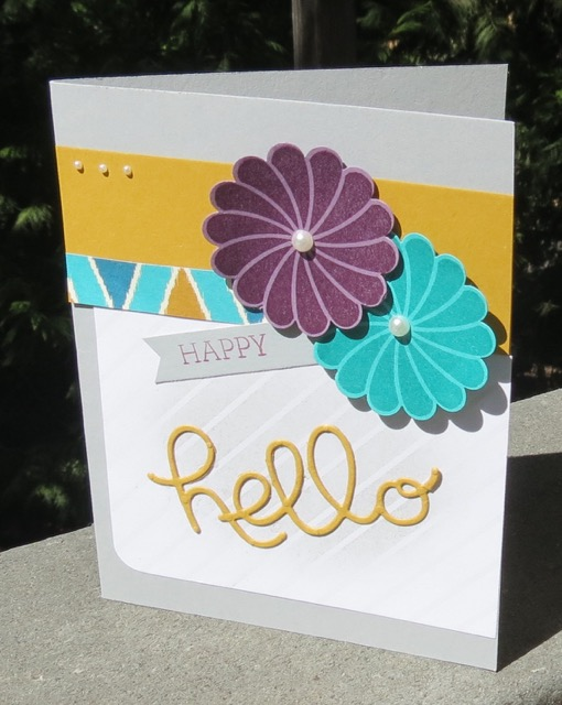 Bohemian Designer Series Paper based HELLO card