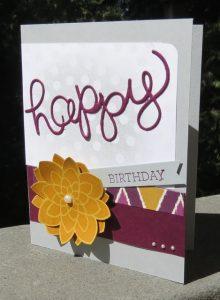 Bohemian Designer Series Paper based HAPPY card