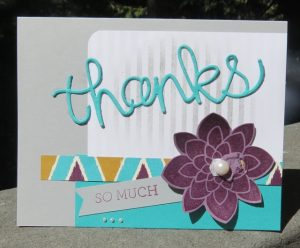 Bohemian Designer Series Paper based THANKS card