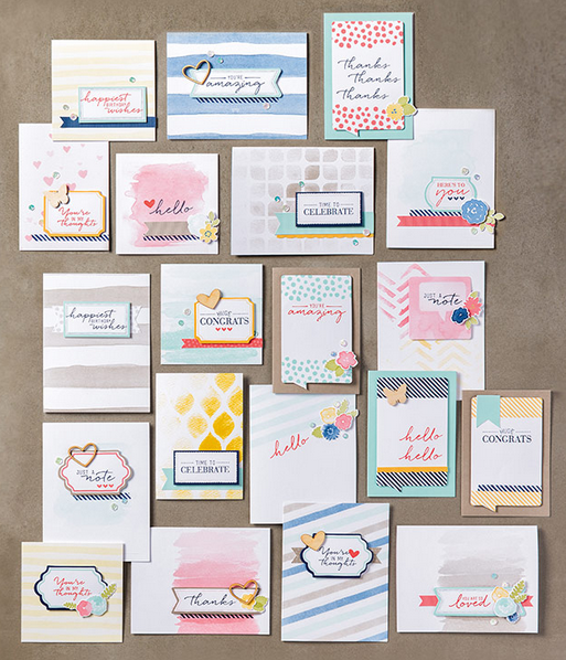 Watercolor Wishes Card Kit (140406)