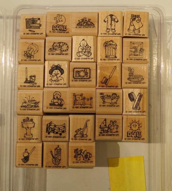 Chore Chart Stamp Set