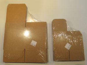 Kraft boxes, in original wrappers; small and medium