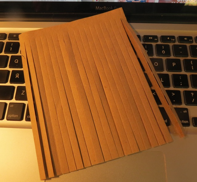 Long fringed kraft paper