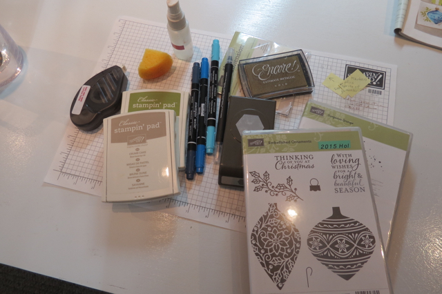 Most of my supplies, all Stampin' Up!