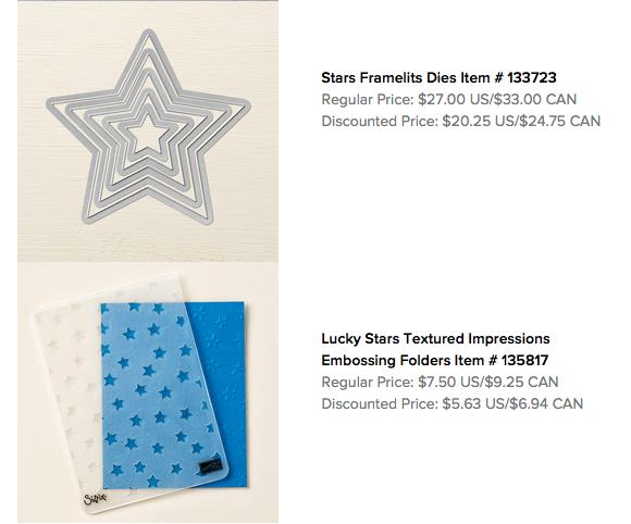 Stars: Framelits & Textured Impressions Embossing Folder