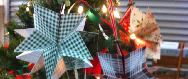 Designer Series Paper Star Ornaments from 2014