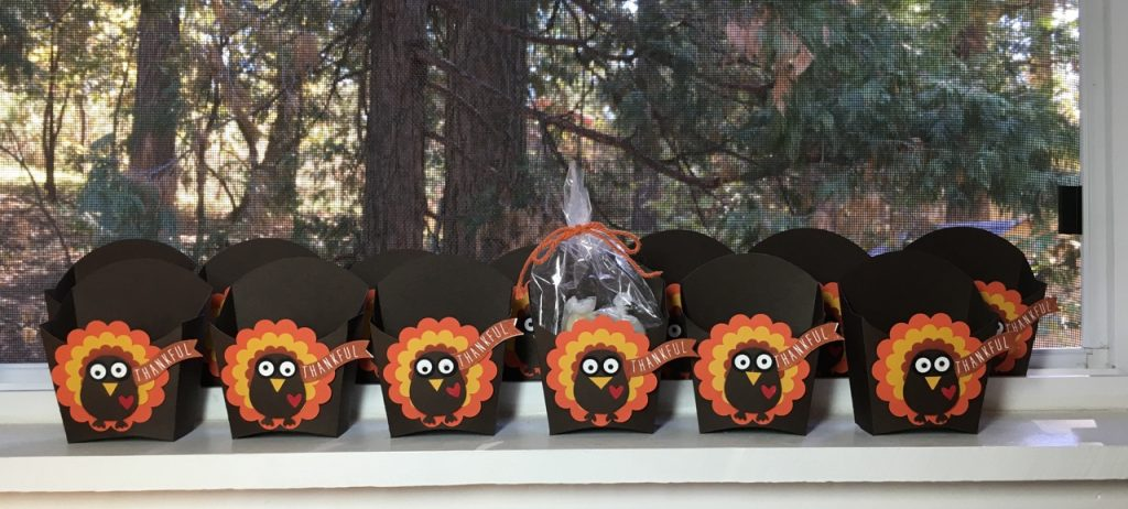 12 little turkeys made with big shot & punches