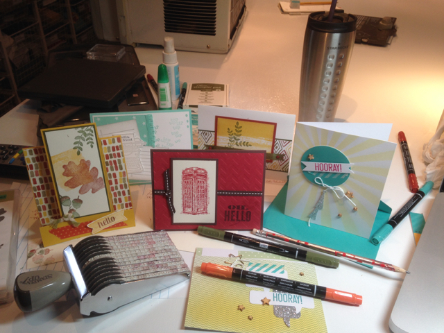 Cards sent to friends on October 1, 2015