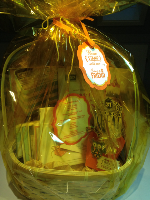 Blythe's donation basket for the MWSP Family Fire Fest