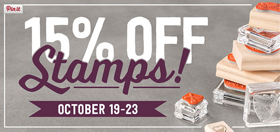 15% of Stampin' Up! stamps, October 19-23, 2015