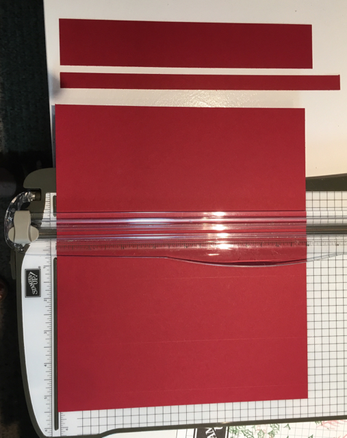 Cutting of Cherry Cobbler card stock for hand sanitizer holders