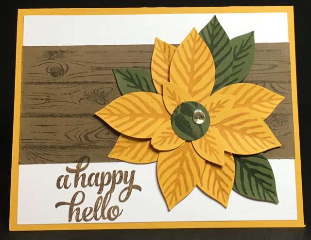 A Happy Hello sunflower card