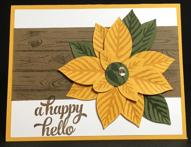 A Happy Hello sunflower card
