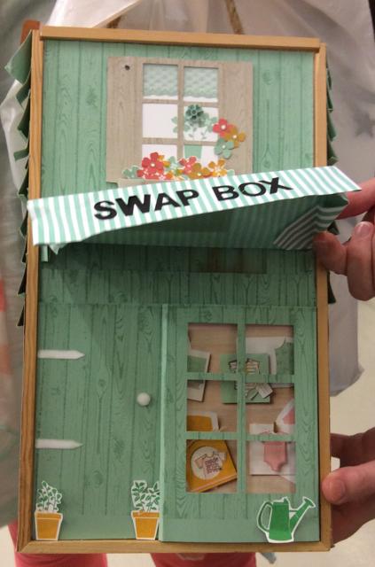Swap box, awning raised up fully