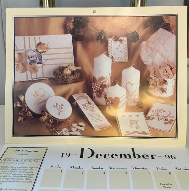 1996 Stampin' Up! calendar