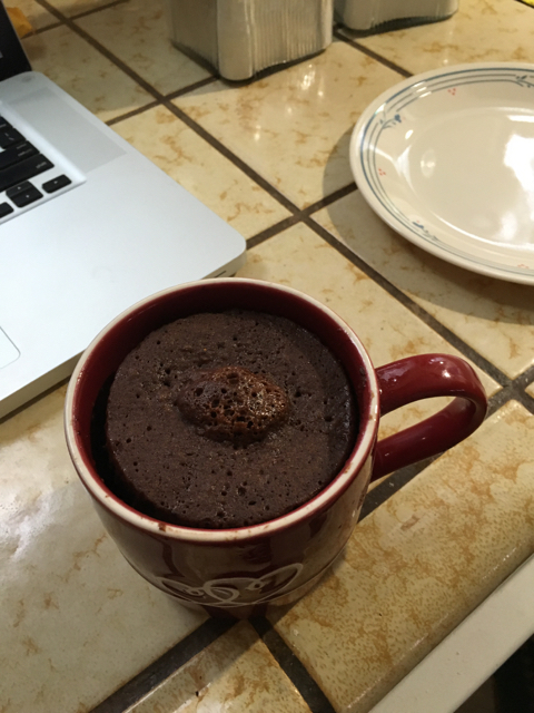 Klause, theCup of Cake with 3 T mini choc. chips and 2 T Kahlua
