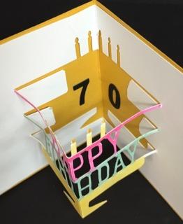 Happy 70th Birthday - guy - closeup, inside