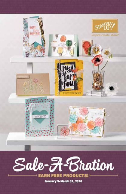 2016 Stampin' Up! Sale-a-Bration Brochure