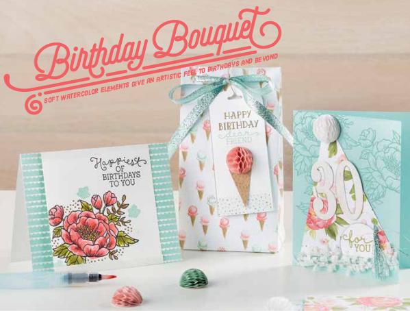 Birthday Bouquet Suite, SU! 2016 Occasions Catalog