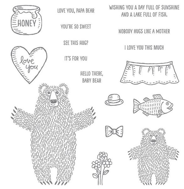 Bear Hugs stamp set by Stampin' Up! 139543-w, 139546-c
