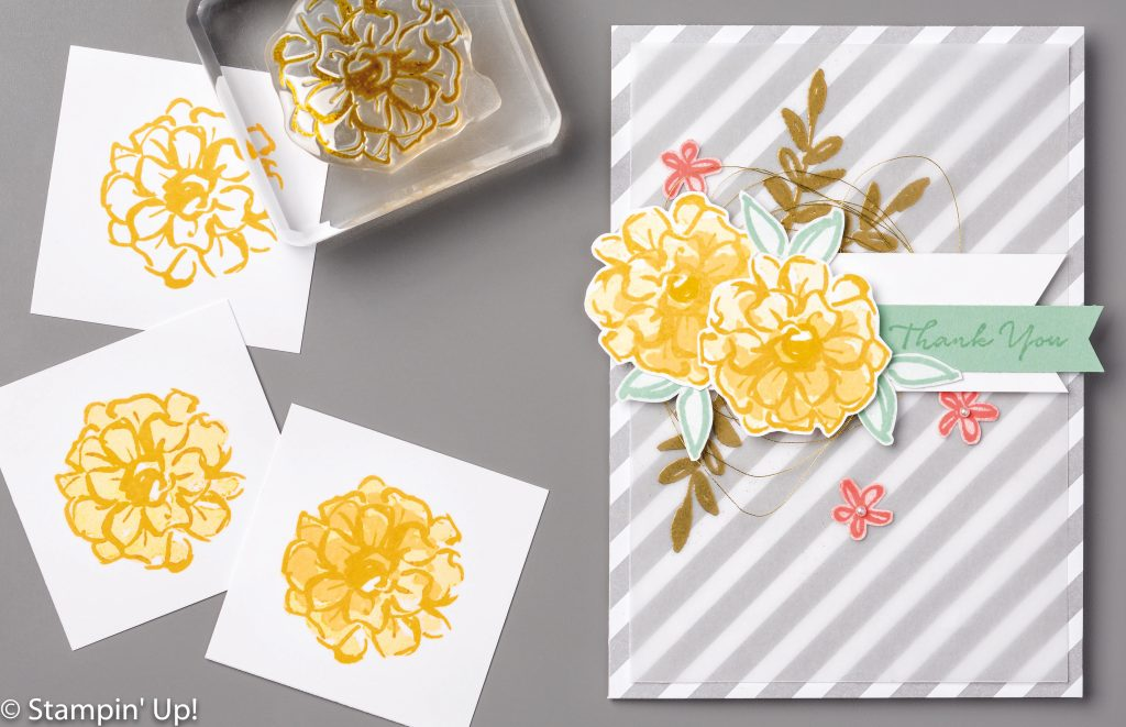 components of flower image, What I Love Sale-a-Bration Stamp set