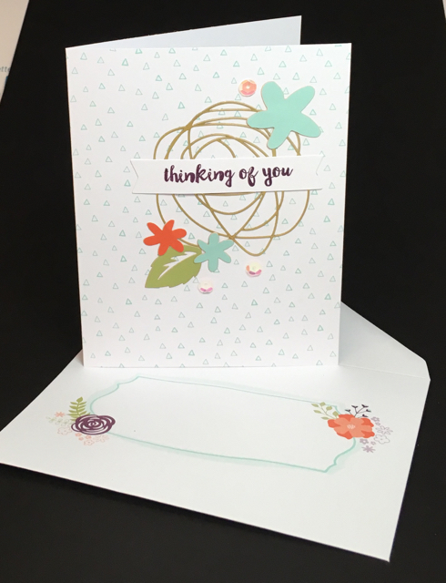 Thinking of You card, February Paper Pumpkin Kit