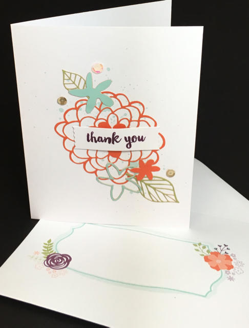 Thank you card, February 2016 Paper Pumpkin