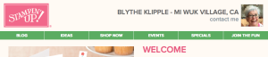 Blythe's online SU! Store picture