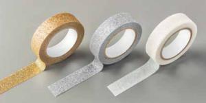 "Metallics Glitter Tape, 141020, 3 rolls, 9/16"" wide, 5 yds each"