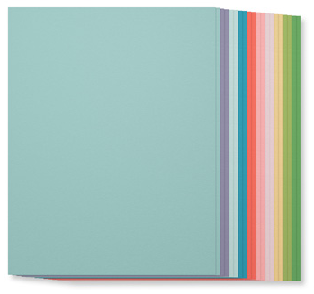 SU! Subtles Collection Cardstock, 131193, $7, 20 sheets, 2 each of ten colors