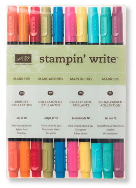 Brights Stampin' Write Markers, 131259, $29/10 markers
