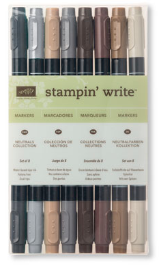 Neutrals Stampin' Write Markers, 131261, $23/8 markers