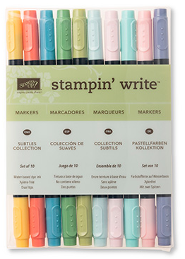 Subtles Stampin' Write Markers, 131263, $29/10 markers