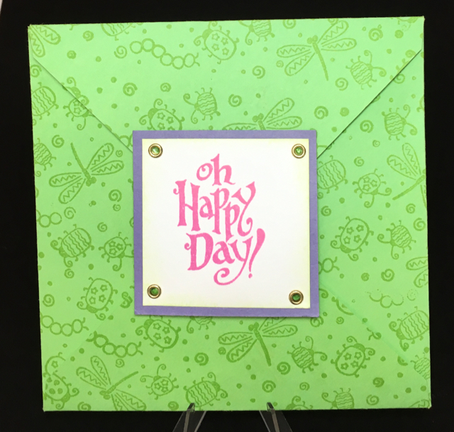 Andrea's 30th birthday weekend invitation from 2003, Stampin' Up!