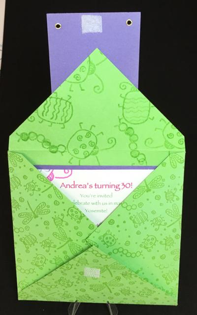 Andrea's 30th birthday weekend invitation