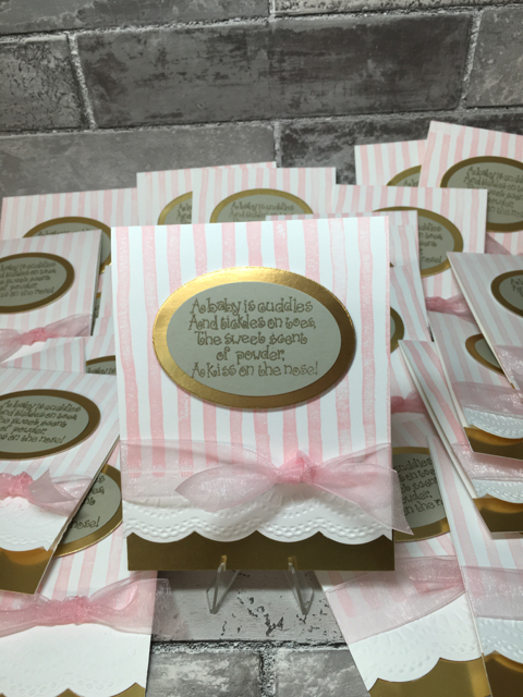 Baby shower invitation inside and out