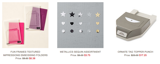 Stampin' Up's Weekly Deals, March 1-7, 2016