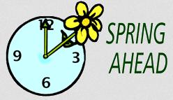 Spring Ahead Reminder, 2016