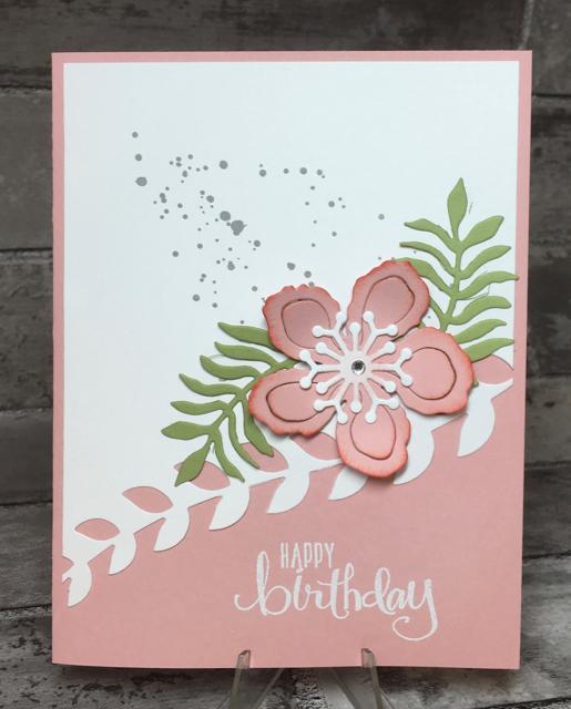 Blushing Bride Botanical Blooms card